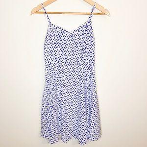Geometric A-Line Spaghetti Strap Dress
